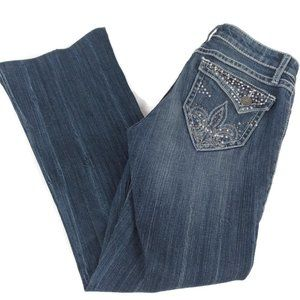 Wrangler Rock 47 Low Rise Distressed Jeans 3/4
